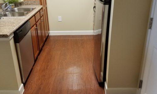 Expert flooring installation in kitchen